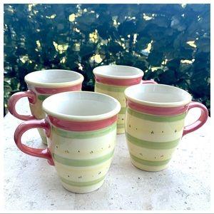 Pfaltzgraff Pistoulet Jana Kolpen Set of 4 Mugs
